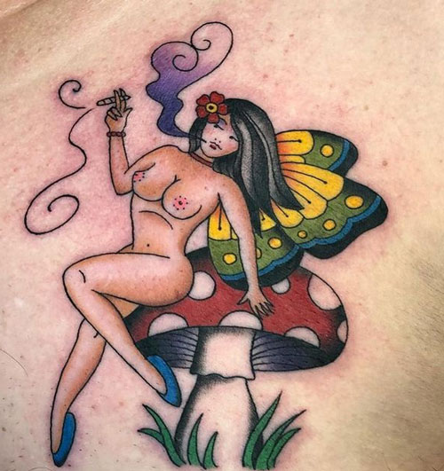tatuaje tradicional americano hadas