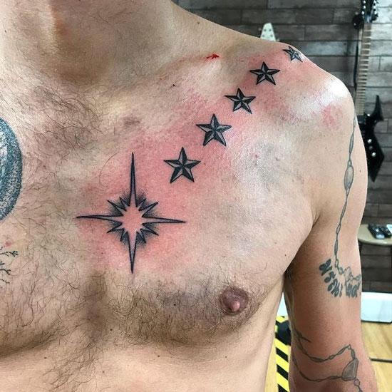 tatuajes de estrellas para hombre