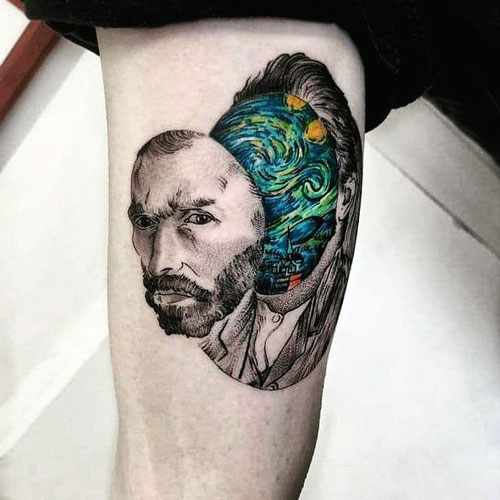 vangogh rostro tattoo