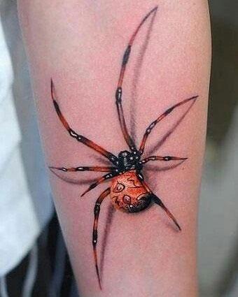3d tattoo de araña
