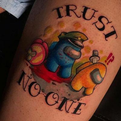Among us tattoo