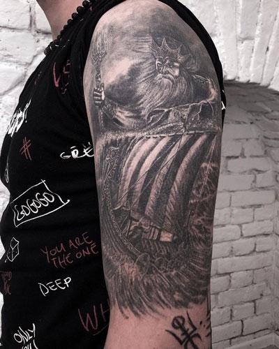 Njörð tattoo