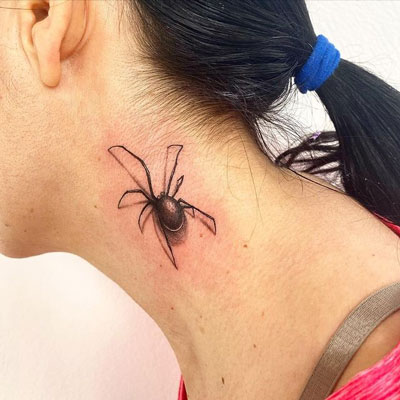 Tatuaje de Arañas en 3D
