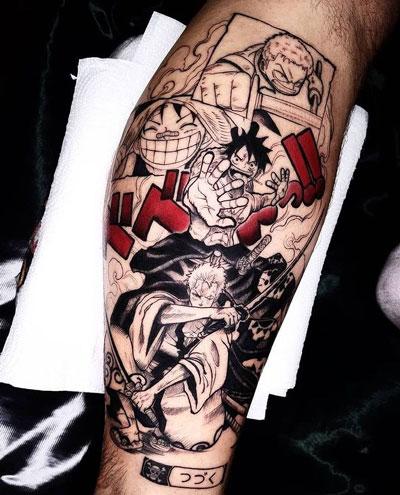 anime one piece tatuaje