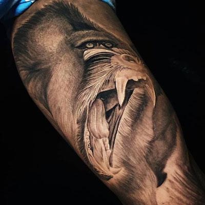 foto tatuaje de mandril