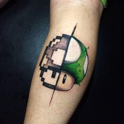 hongo verde mario bros tattoo