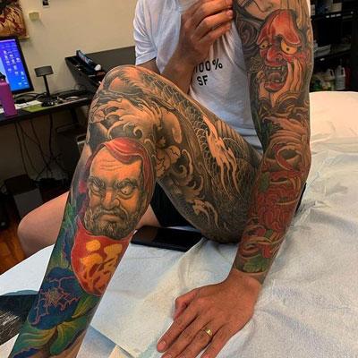 monje daruma tatuaje
