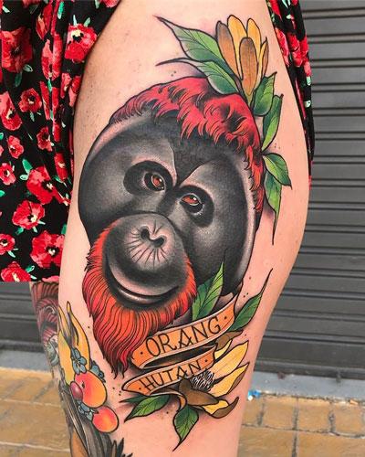 orangutan tattoo