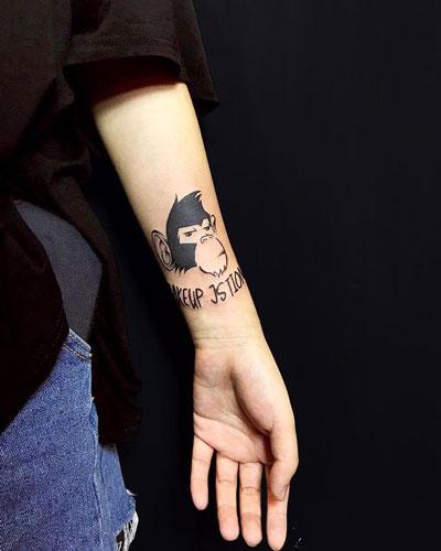 tattoo chimpances