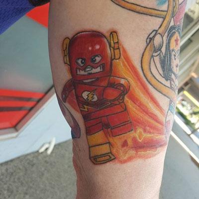 tattoo lego de flash