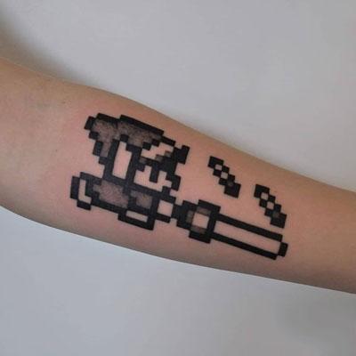 tattoo zelda pixeleado