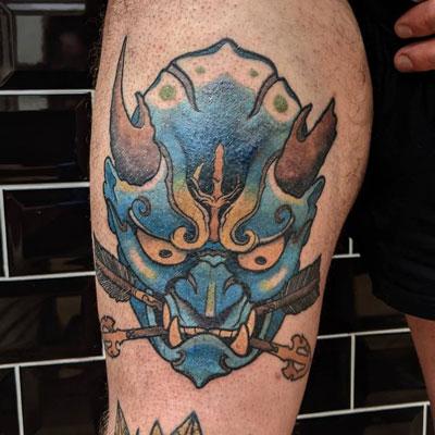 tatuaje Oni Azul