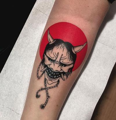 tatuaje Oni Mask