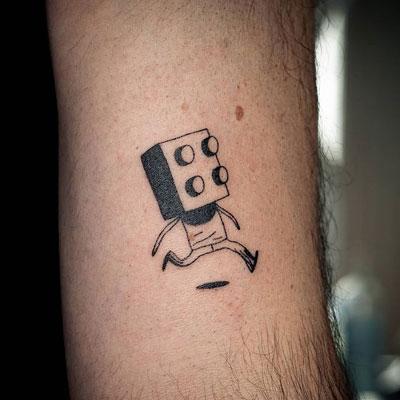 tatuaje block lego