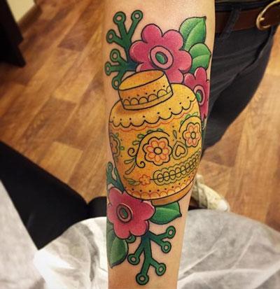 tatuaje catrina lego