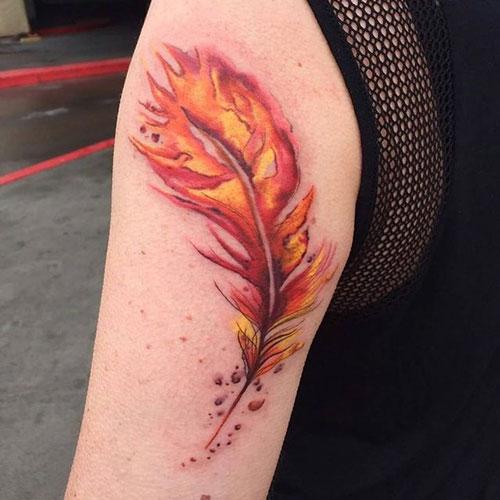 tatuaje de ave fenix