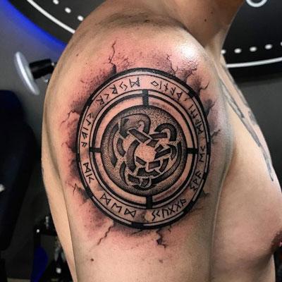 tatuaje dios de la guerra