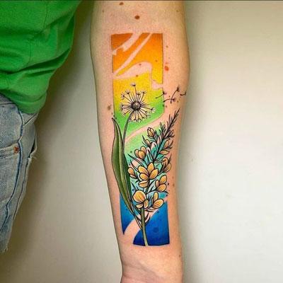 tatuaje diseño en color