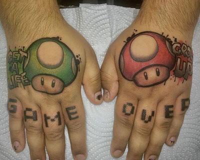 tatuaje hongos de mariobros