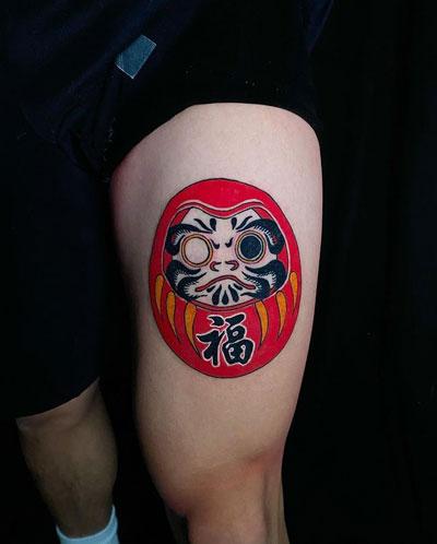 tatuaje japones daruma doll