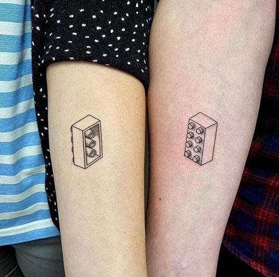 tatuaje lego para parejas