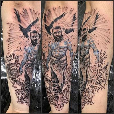 tatuaje nordico baldur