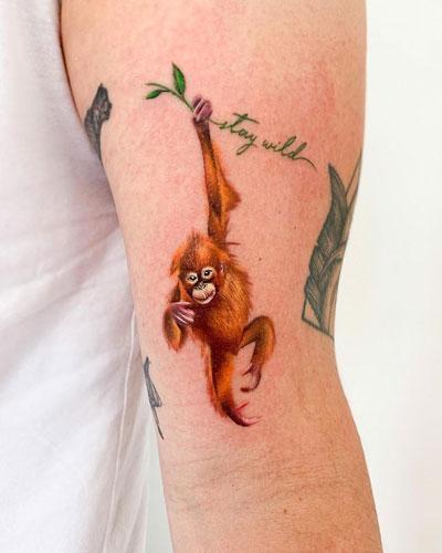 tatuaje orangutan pequeño