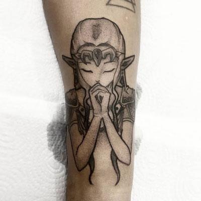 tatuaje princesa zelda