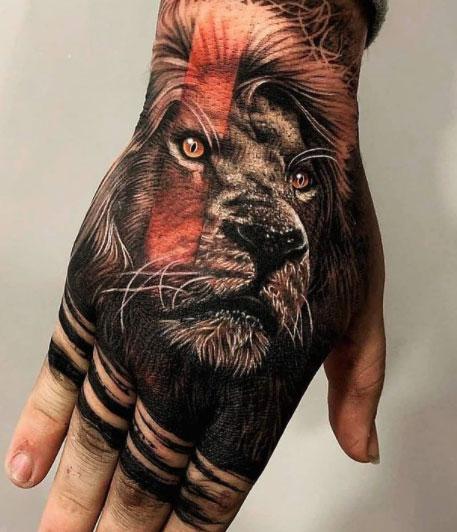 tatuaje realismo leon