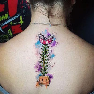 tatuaje sobre mario bros