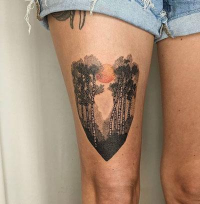 birch tattoo