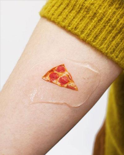 micro tattoo pizza