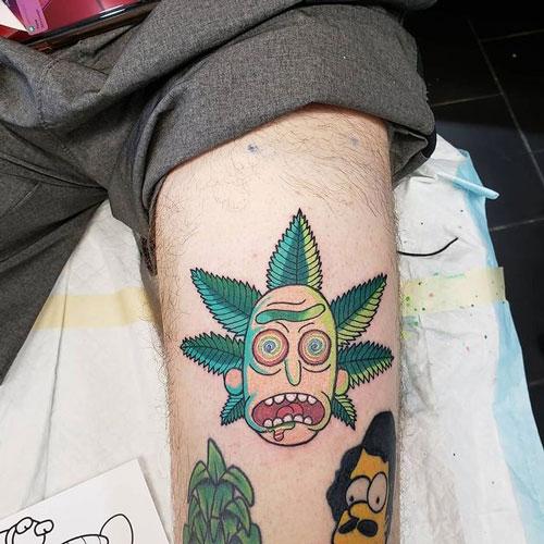morty tattoo marihuano