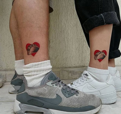 tacos tattoo pareja