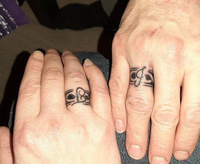 tattoo anillo con letras