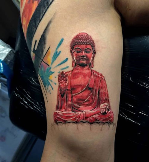 tattoo buda rojo