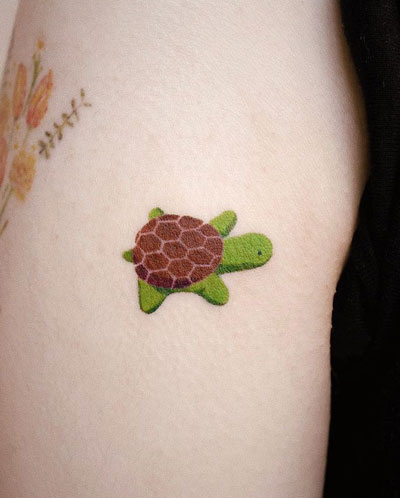 tattoo peluche tortuga
