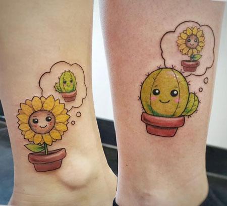 tatuaje de cactus para parejas