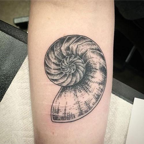 Tatuaje de La concha del Nautilus