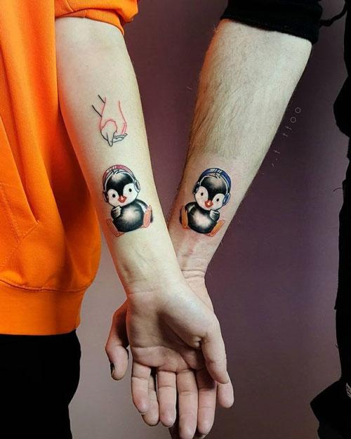 tatuaje de pinguinos