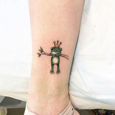 tatuaje de rana a color