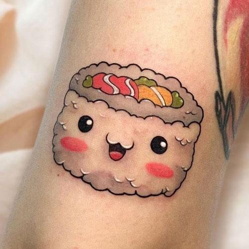 tatuaje de sushi color