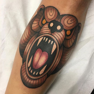 tatuaje ilustracion de oso
