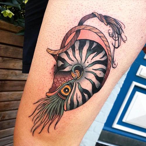 tatuaje nautilius vivo