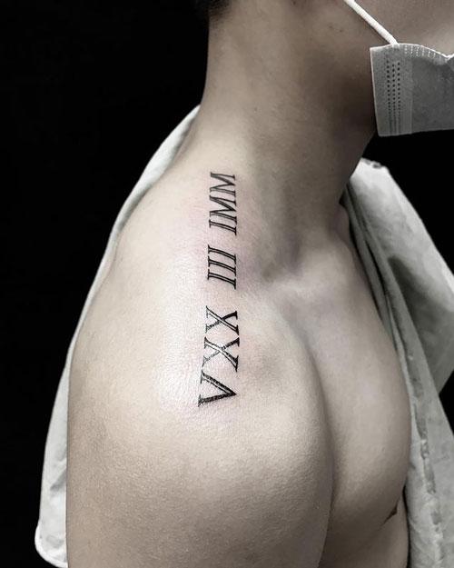 tatuaje numeros v