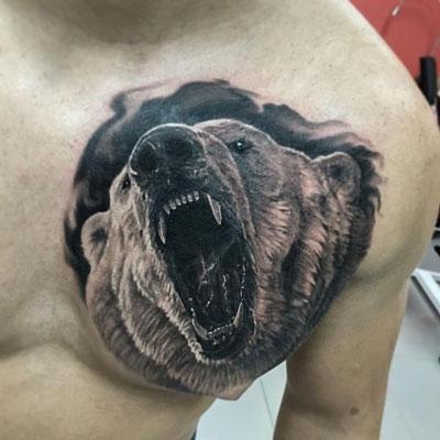 tatuaje oso blanco