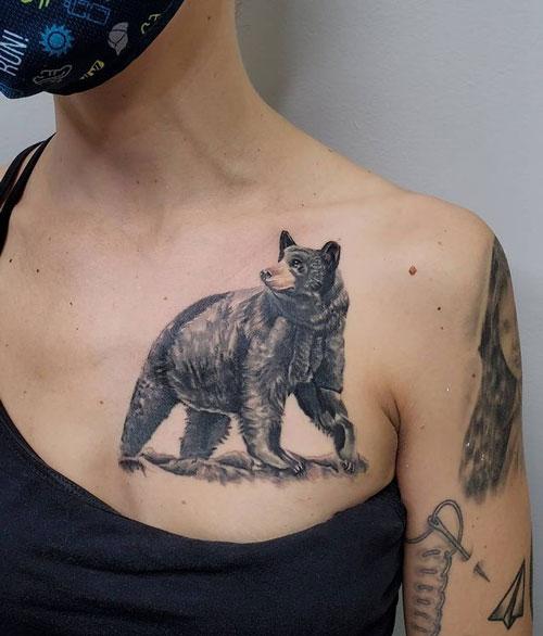 tatuaje oso negro