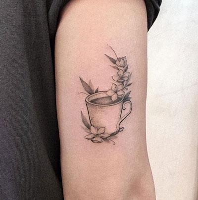 tatuaje taza de cafe