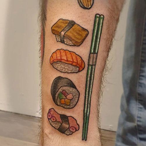 tatuajes de sushis