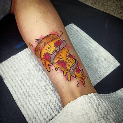 true love pizza tattoo